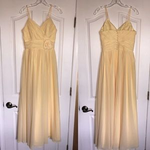 NWT yellow Andrew Adela gown